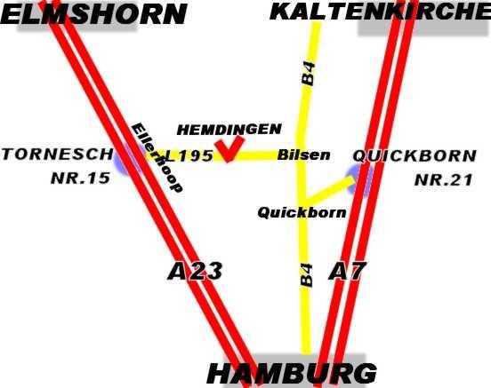 Anfahrt nach Hemdingen